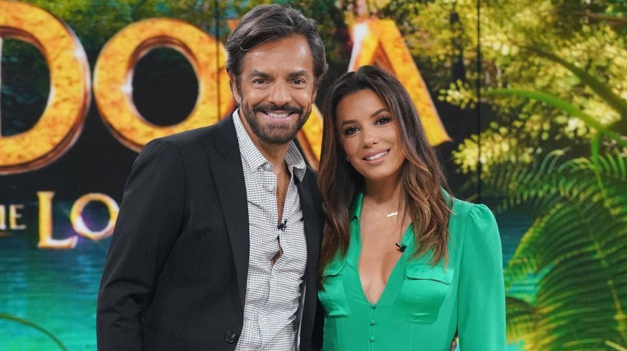"""Eva Longoria y Eugenio Derbez estrenan en Miami """"Dora y la ciudad perdida»"""