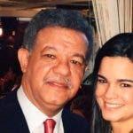 Leonel Fernández y su hija Nicole Fernández