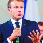 Paris (France), 23/08/2019.- French President Emmanuel Macron delivers a speech on environment and social equality to business leaders in Paris, France, 23 August 2019, on the eve of the G7 summit. The G7 Summit runs from 24 to 26 August in Biarritz. (Francia) EFE/EPA/MICHEL SPINGLER / POOL MAXPPP OUT