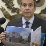 El licenciado Orlando Jorge Mera realizó una visita a la Junta Central Electoral (JCE). Hoy/ Pablo Matos 21/08/2019