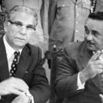 Julio Sauri y el presidente Joaquín Balaguer. Reproducción/ Napoleón Marte