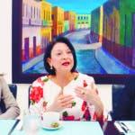 Encuentro Económico semanal del Periódico Hoy, con ejecutivos de la Fundación Reservas de izquierda a derecha la señora Nadia Tejeda Gerente de Innovación y Proyectos de la Fundación, la señora Rosa Àlvarez Presidenta Ejecutiva de la Fundación y la señora Gatitza Contreras Gerente de Crédito y Fortalecimiento. Hoy/ Napoleón Marte 21/08/2019