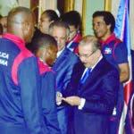 Deporte /El Presidente Danilo MEdina Sanchez ,recibe las medallista de Lima Peru ,que  ganaron medalla de Oro en lo Centro Americano y del caribe Lma 2019,Hoy/ Jose Francisco .19-8-2019