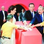 El presidente Danilo Medina dejo iniciado el nuevo año escolar en la escuela Eustacia Marte de Fernandez en Santiago. 19/08/2019 Foto/ Wilson Aracena