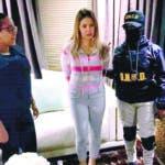 """Arresto de la señora Marisol Mercedes Franco, esposa del narcotraficante César Emilio Peralta, también conocido como """"César El Abusador""""."""
