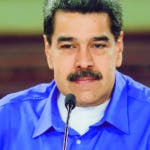 CARACAS (VENEZUELA), 14/08/2019.- Fotografia cedida por Prensa de Miraflores donde se observa al presidente venezolano Nicolás Maduro, tomar parte en un acto de Gobierno hoy, 14 de agosto del 2019, en Caracas. Maduro afirmó este miércoles que el expresidente de Colombia Álvaro Uribe Vélez, encabeza un supuesto plan magnicida que contempla el ingreso a Venezuela de 32 mercenarios, quienes además atentarían contra otros dirigentes del oficialismo. EFE/PRENSA MIRAFLORES/ NO VENTAS/ SOLO USO EDITORIAL