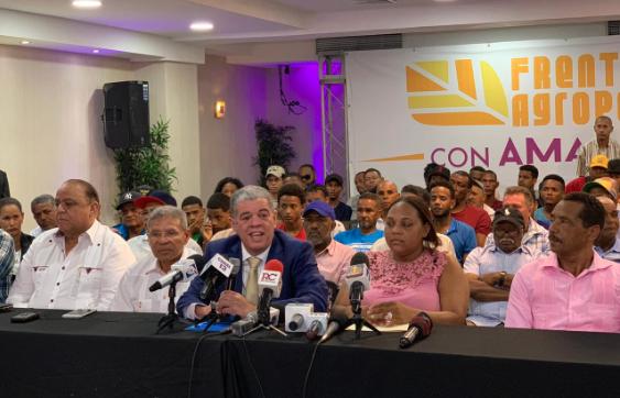 Productores agropecuarios expresan respaldo a Amarante Baret