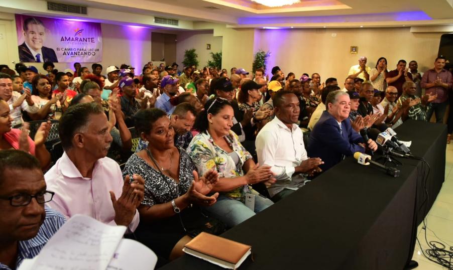 Organizaciones comunitarias expresan respaldo a Amarante Baret