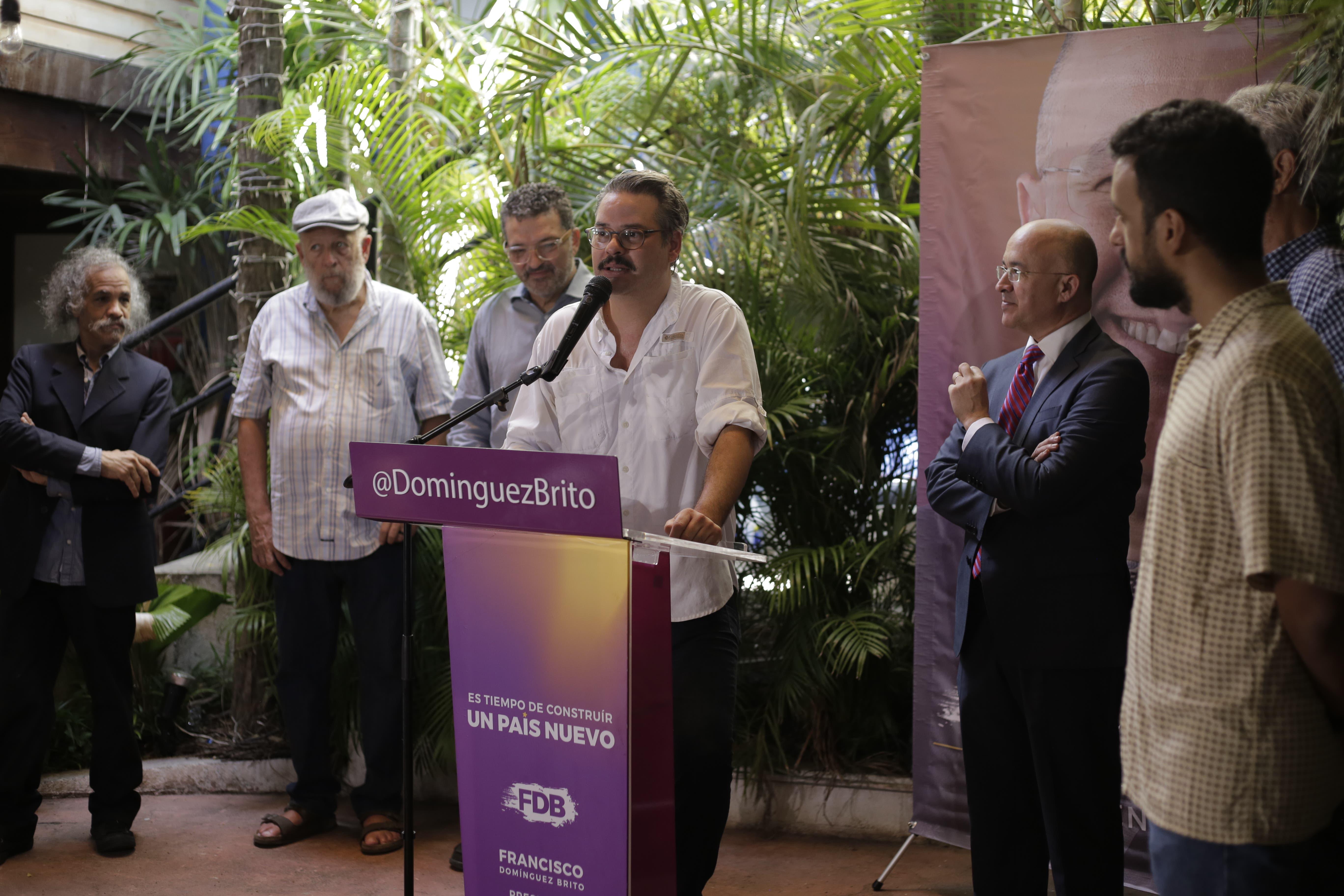 Frank Perozo, Wason Brazoban y Diomary La Mala, entre los que respaldan candidatura  presidencial de Francisco Domínguez Brito