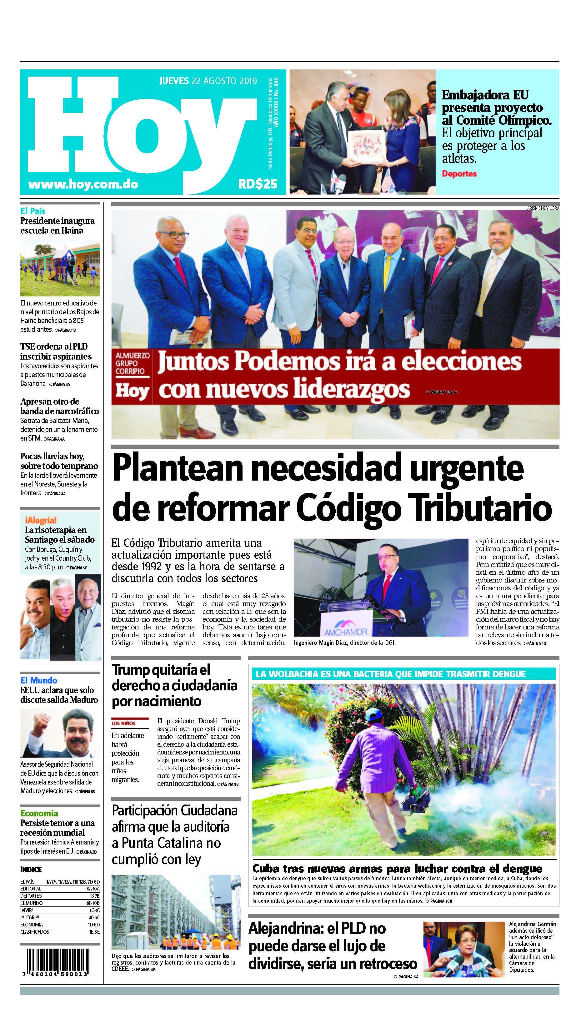 Pages from Edición impresa HOY jueves 22 de agosto del 2019