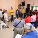 Rafael Paz durante el acto de apoyo de los Pastores evangelicos a su precandidatura