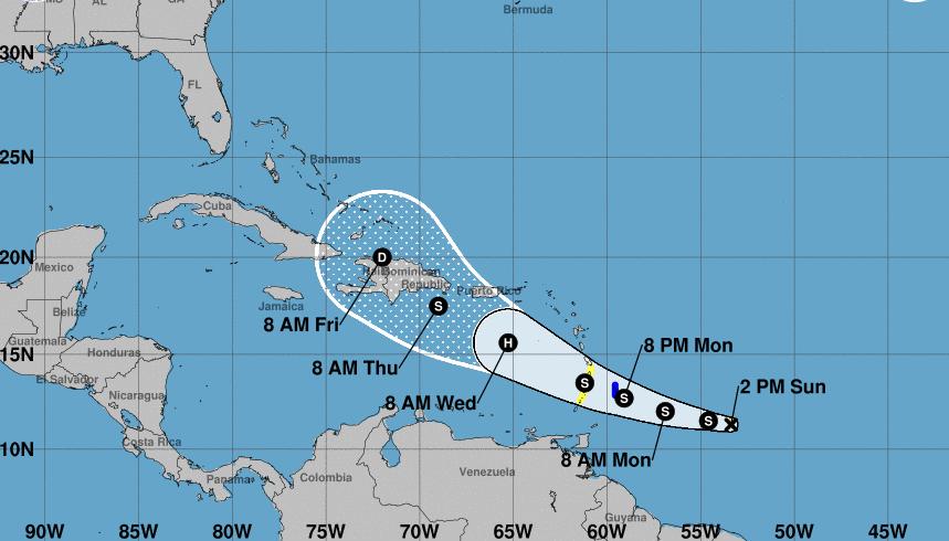 Alerta en el Caribe por la tormenta tropical Dorian