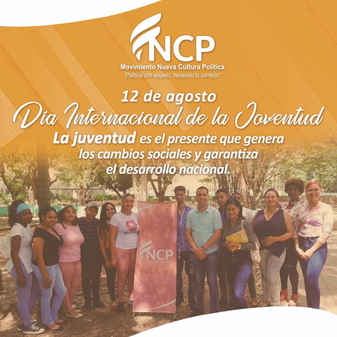 «Hay una deuda pendiente con la juventud», dice Movimiento Nueva Cultura Política  en el Día Internacional de la Juventud