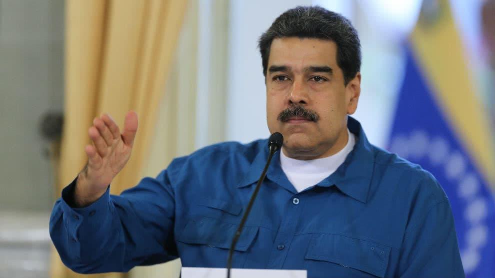"""Maduro dice que Guaidó no entró a sesión del Parlamento por no """"dar la cara»"""