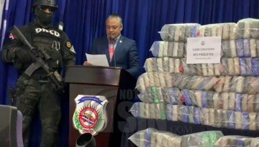 DNCD decomisa 471 paquetes de cocaína en el Puerto Multimodal Caucedo