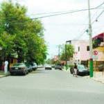 """Calle Danae, en Gascue, cuyo nombre se pretende cambiar por el de """"Paseo de los Notarios"""". La Academia Dominicana de la Historia rechazó la intención."""