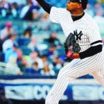 Bronx (United States), 17/09/2019.- The Yankees' pitcher Luis Severino pitches during the first inning of the game between the Los Angeles Angels and the New York Yankees at Yankees Stadium in the Bronx, New York, USA, 17 September 2019. (Estados Unidos, Nueva York) EFE/EPA/JUSTIN LANE