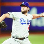 Los Angeles Dodgers starting pitcher Clayton Kershaw delivers against the New York Mets during the second inning of a baseball game Friday, Sept. 13, 2019, in New York. (AP Photo/Mary Altaffer)