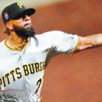 Pittsburgh Pirates pitcher Felipe Vazquez throws to a San Francisco Giants batter during the ninth inning of a baseball game Wednesday, Sept. 11, 2019, in San Francisco. The Pirates won 6-3. (AP Photo/Tony Avelar)
