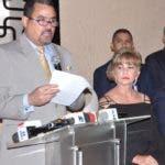 Profesionales de la Salud ofrecieron rueda de prensa para anunciar su total apoyo al ex presidente Leonel Fernández. En Foto: Jorge Vargas. Hoy/ Arlenis Castillo/16/09/19.