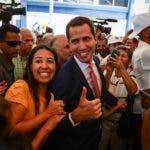 AME7171. CARACAS (VENEZUELA), 13/09/2019.- El presidente de la Asamblea Nacional, Juan Guaidó, participa durante la conmemoración de los 78 años de fundado el Partido Acción Democrática (AD), este viernes en Caracas (Venezuela). EFE/ Rayner Peña