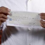 Cheque de 6 millones