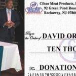 Empresa dominicana en NY dona 10 mil dólares Fundación David Ortíz