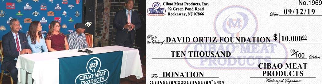 """Empresa dominicana en Nueva York dona 10 mil dólares a """"Fundación David Ortíz"""""""