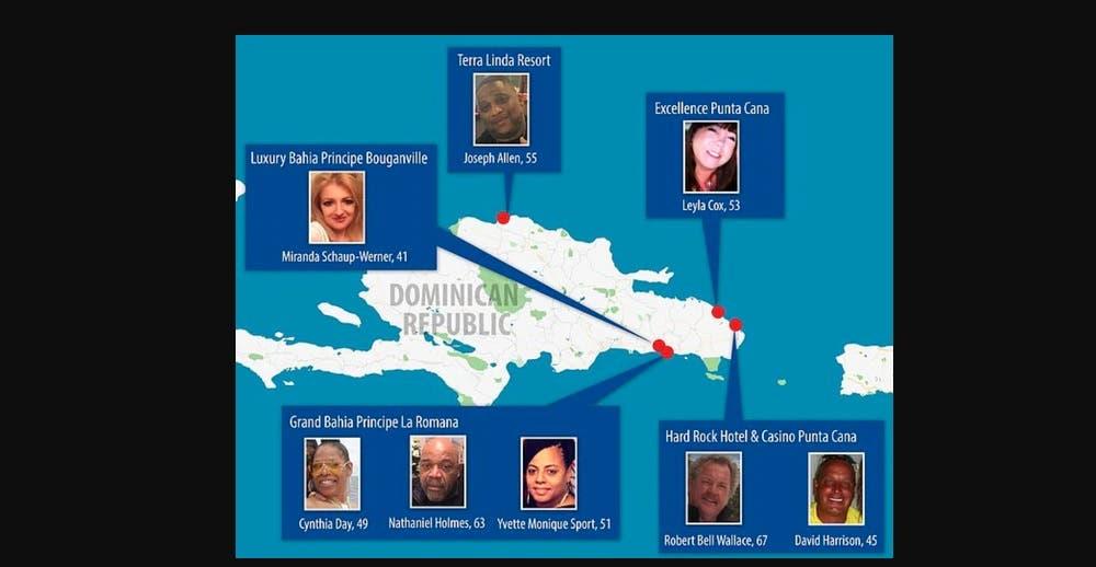 Infografía muerte de turistas de EE.UU en RD