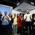 Rafael Paz durate el acto de apoyo de los miembros del Comité Central del PLD