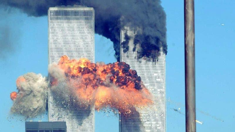 Torres gemelas al momento del ataque el 11 de septiembre