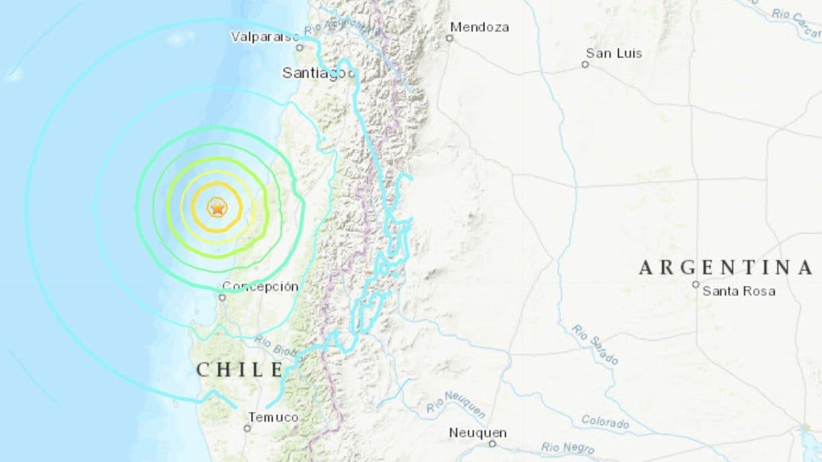 Un temblor de magnitud 6,8 remece Chile