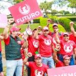 (foto) Integrantes del movimiento social Basta Ya