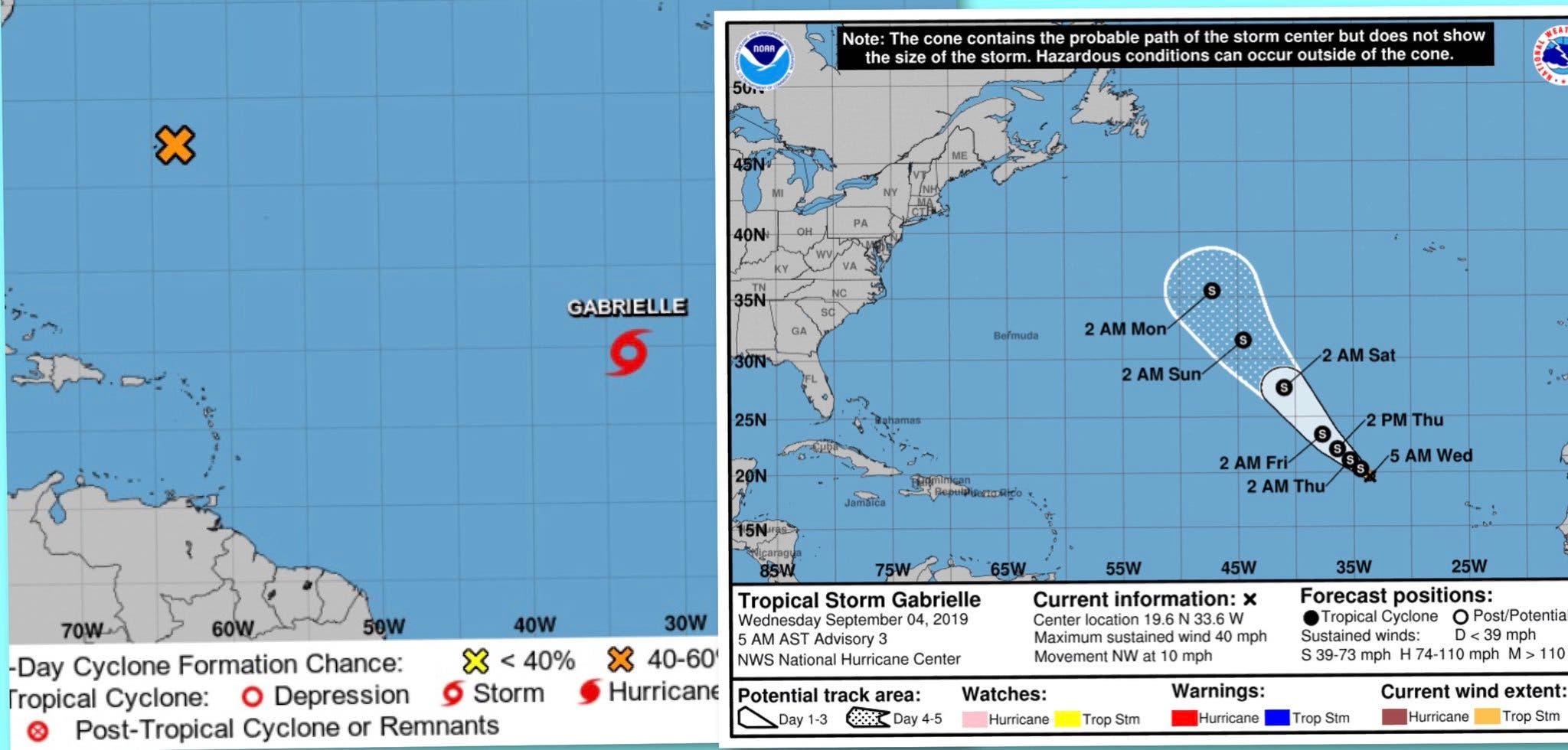 Se forma la tormenta tropical Gabrielle en el Atlántico; te decimos si presenta peligro para RD