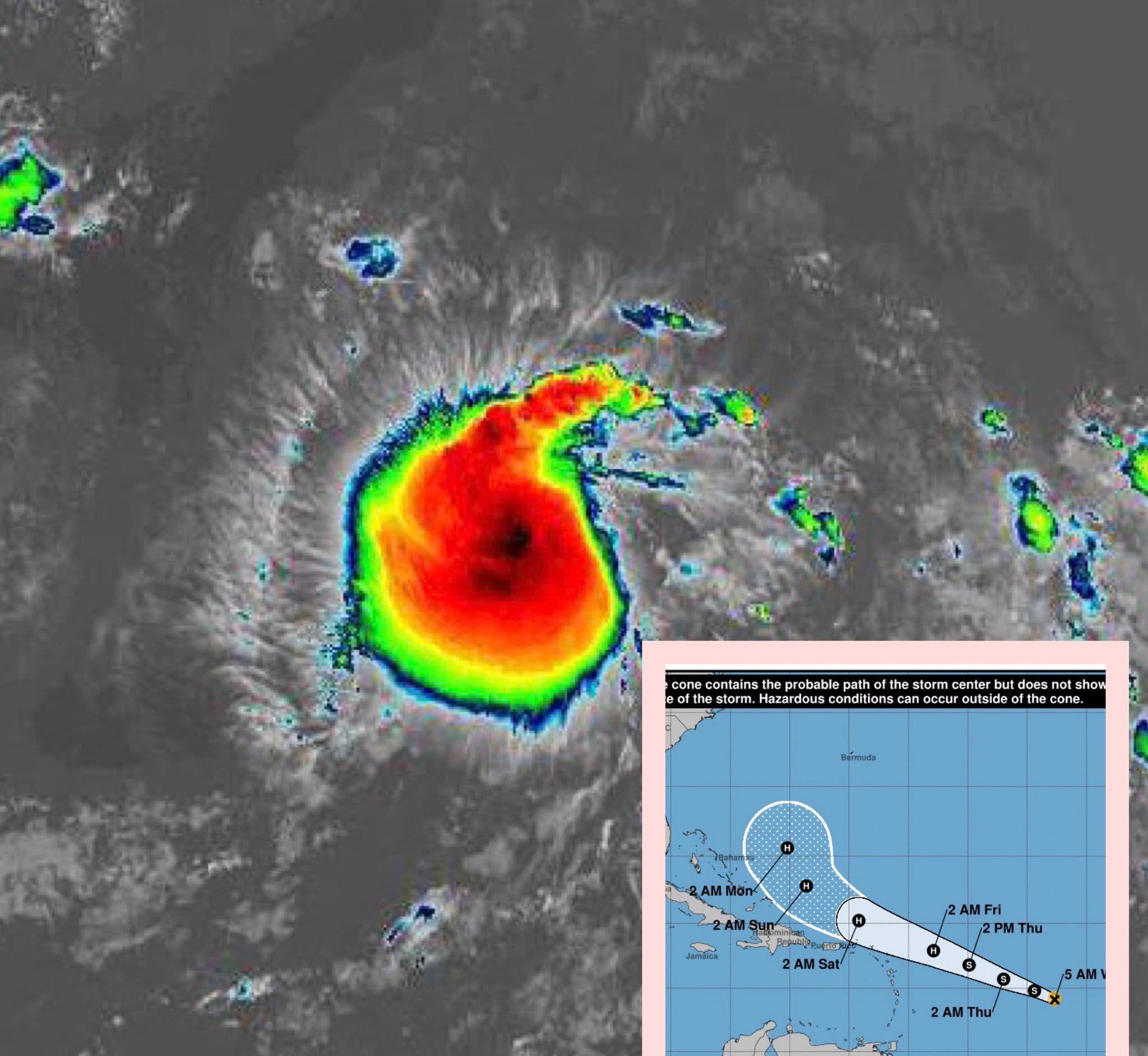 Se forma la tormenta tropical Jerry; huracán Humberto afecta ya a Bermuda y depresión Imelda causa estragos en Texas