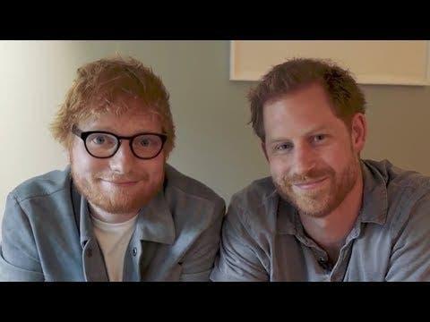 """Los """"pelirrojos"""" príncipe Enrique y Ed Sheeran colaboran por la salud mental"""