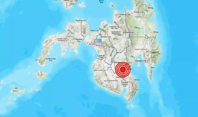 Un seísmo de magnitud 6,4 sacude la isla de Mindanao en el sur de Filipinas