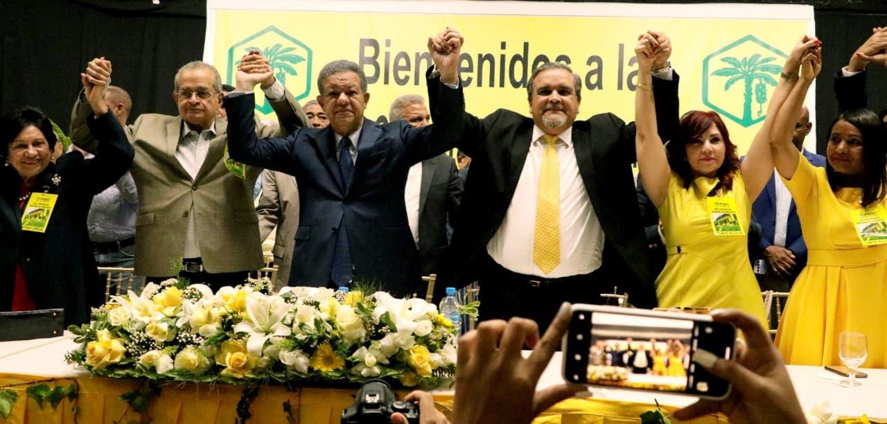Tres partidos proclaman a Leonel como su candidato presidencial; anuncia bloque opositor