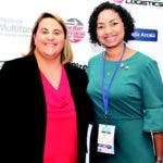Jenae Johnson, oficial económica de la Embajada de Estados Unidos, y July de la Cruz, presidenta de BAS Dominicana. fuente externa