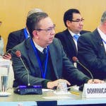 Washington D.C., Estados Unidos. El gobernador del Banco Central de la República Dominicana (BCRD), licenciado Héctor Valdez Albizu, participa en las reuniones anuales de las juntas de gobernadores del Fondo Monetario Internacional (FMI) y del Grupo del Banco Mundial (BM), que se estan llevando a cabo desde el 16 al 19 de octubre en la capital de los Estados Unidos de América (EEUU). En esta ocasión, el FMI presentó a su nueva directora gerente, señora Kristalina Georgieva, siendo esta la primera persona de una economía de mercado emergente que dirigirá el organismo internacional.   Hoy/Fuente Externa 17/10/19