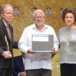 Premio Fundacion Corripio en el teatro nacional, que entrego 6 premios a diferentes instituciones y personas.  En foto: Domingo Legua  Arquidiócesis de Santo Domingo   21-10-2019 HOY / Ariel Gomez