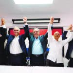 El Partido Revolucionario Social Demócrata (PRSD) proclamo a Luis Abinader como candidato presidencial para las próximas elecciones del 2020. Durante un acto en el PRSD. Santo Dom. Rep. Dom. 20 de octubre de 2019. Foto Pedro Sosa