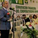 El ingeniero Jose Armando Tavarez, rector ITLA, habla en Convencion Cooperativa Financiera- Fuente externa 13/10/2019