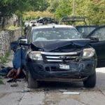 AME427. IGUALA (MÉXICO), 15/10/2019.- Vista general del sitio donde de un enfrentamiento entre civiles armados y miembros del Ejército Mexicano este martes en el sureño estado de Guerrero (México). Como resultado del enfrentamiento, falleció un militar así como 14 civiles armados, señaló el portavoz del Grupo de Coordinación Guerrero, Roberto Álvarez Heredia, en un primer reporte. EFE/STR/ATENCIÓN EDITORES: CONTENIDO GRÁFICO EXPLÍCITO/ SOLO USO EDITORIAL/NO VENTAS