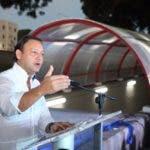 El alcalde Abel Martinez habla en inauguracion del Tunel