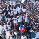 Manifestación convocada por artistas en Haití/AP