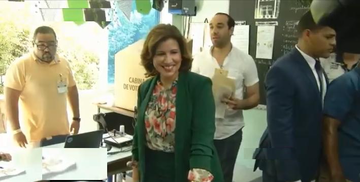 Margarita Cedeño define proceso de votación como brillante; dice pueblo dará victoria a Leonel Fernández