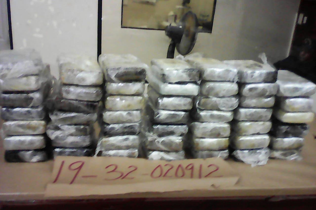 Decomisan 48 paquetes de cocaína en Puerto Multimodal Caucedo