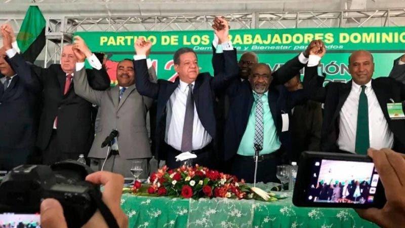PUN, PTD y PRSC proclaman como su candidato a Leonel Fernández