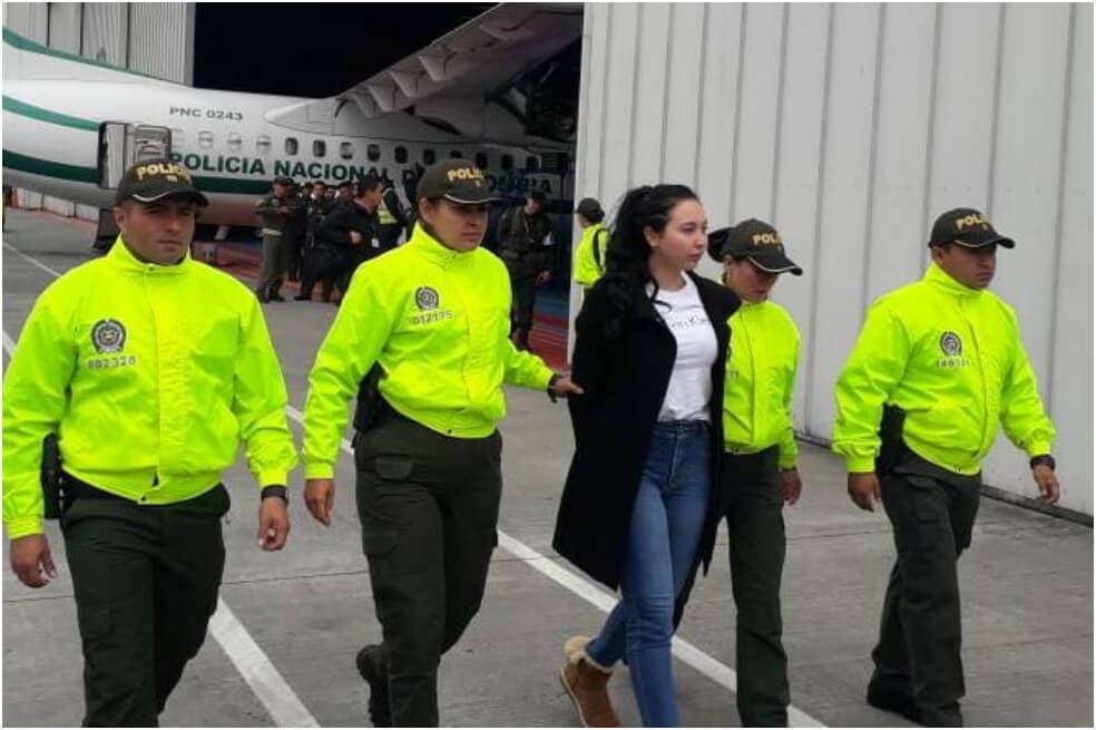 Capturan a hija de excongresista colombiana que se fugó de prisión